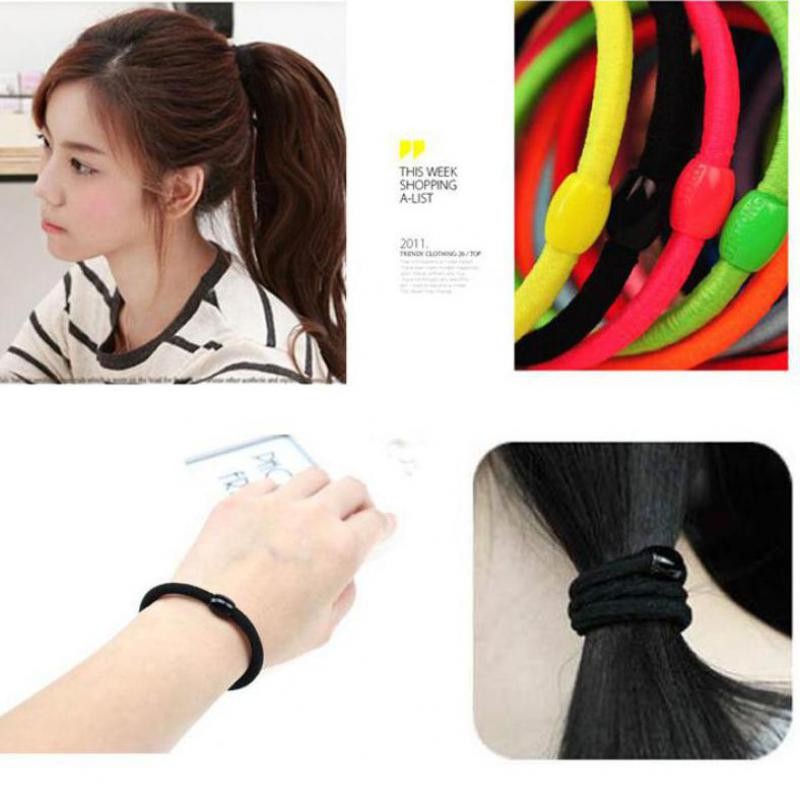 Free Shipping 2017 Fashion elastic hair bands for women Candy Color  girl  headbands hair ropes headwear hair accessories(6pcs) free shipping 10pcs lot new adult elastic hair bands women headwear for girls hair rope headbands accessories 14 colors 15cm
