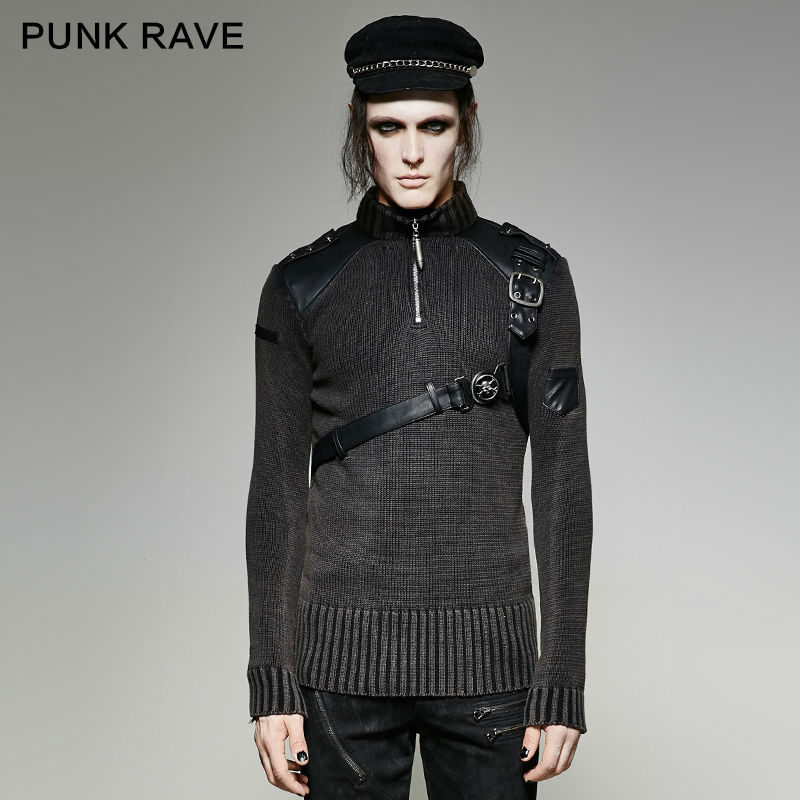 Punk Rave hommes vapeur Punk chandail mode hiver Cool Style beau chandail