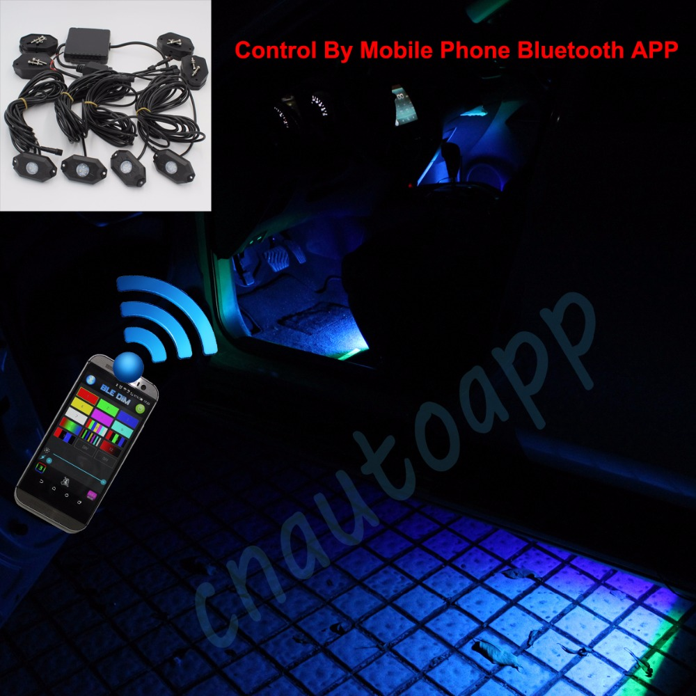Led Rock Light Car Rgb Chassis Light Phone Bluetooth App