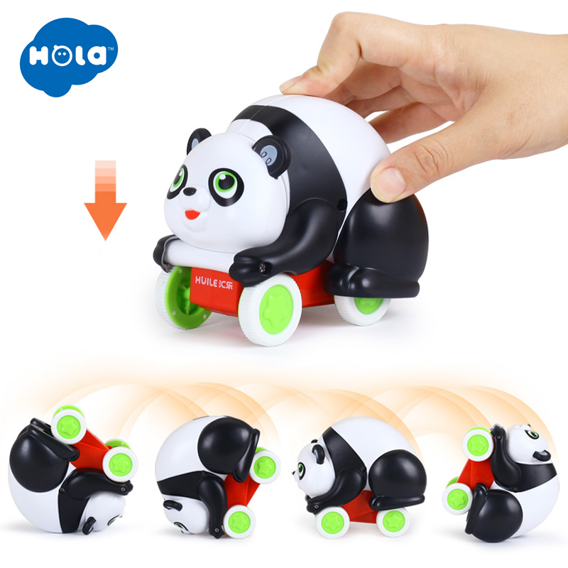 HOLA 3120 Cute Cartoon Toy Vehicles Running Car Toy Animal Tiger / Pardon Wind Up Newborn Toy For Children 18 Month+