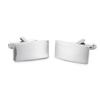Gemelos plateados rectangulares nuevos WN, accesorios suaves de moda, mancuernas francés hombre