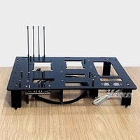 Black DIY Personalized Acrylic Computer Chassis Rack Desktop PC Computer Case for ATX Mainboard Motherboard