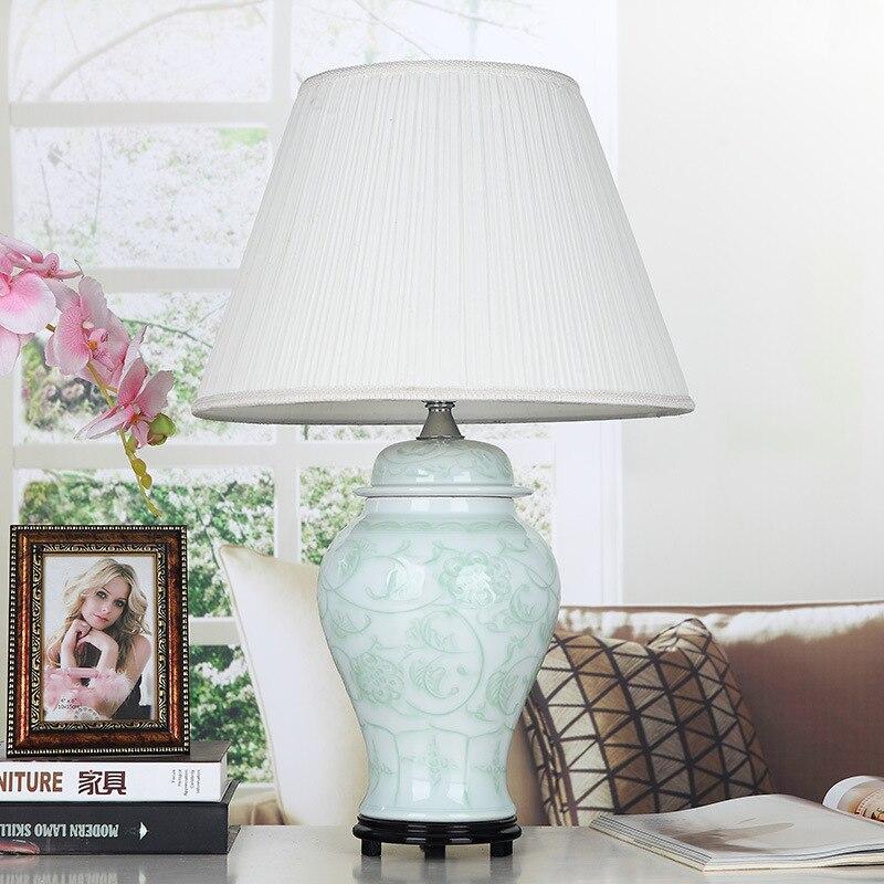 jingdezhen vintage style porcelain ceramic desk table lamps for bedside chinese porcelain bedroom table lamp - Bedroom Table Lamps