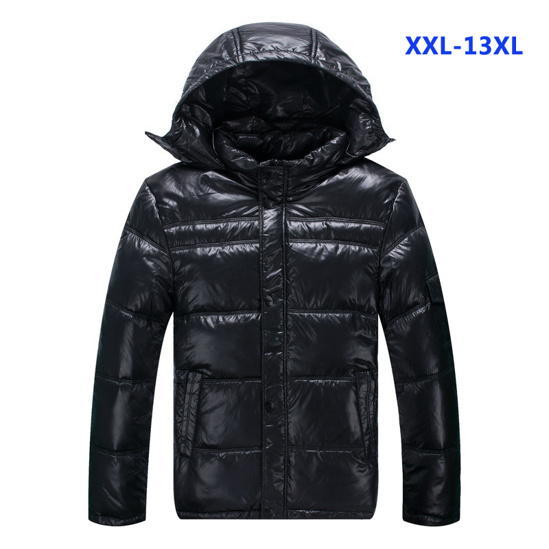 2019 New Style Down Jacket With Hood Black Colour Thick Warm Winter Factroy Sell Fashion Plus Size Xl- 6xl 7xl 8xl 9xl 10xl 11xl 12xl 13xl