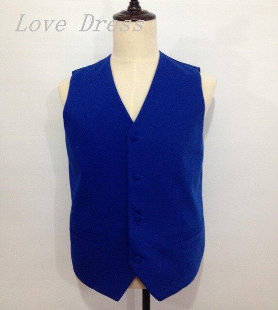 One Piece Top Selling Blue Vest Man Suits Four Button Groomsman Tuxedos Men Wedding Vest