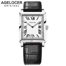 AGELOCER İsviçre marka zarif Retro saatler kadınlar moda lüks quartz saat saat kadın rahat deri kadın kol saatleri