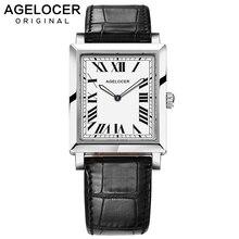 Agelocer swiss marca elegante retro relógios moda feminina luxo relógio de quartzo feminino casual couro relógios de pulso