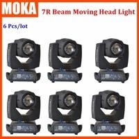 6 pcs/lot 230W Sharpy Moving head Beam Light 7r Osram lamp beam 7R Touch screen display 7R gobo wash stage dj laser light