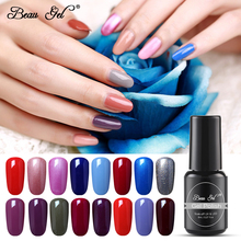 цена на Beau Gel 8ml Pure Color UV Nail Polish Soak off LED UV Hybrid Gel Varnish Semi permanent Nail Art Manicure Gelpolish Gel Lacquer