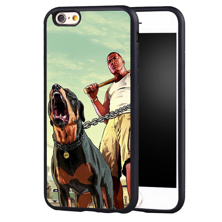 Grand theft auto GTA 5 V dog phone case cover for Samsung Galaxy s4 s5 s6 S7 edge S8 plus note 2 3 4 5