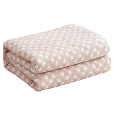 Japan Style 100% Cotton Quilted Quilt For Summer Soft Comforter Machine Washable Blanket Single Double Size Bed