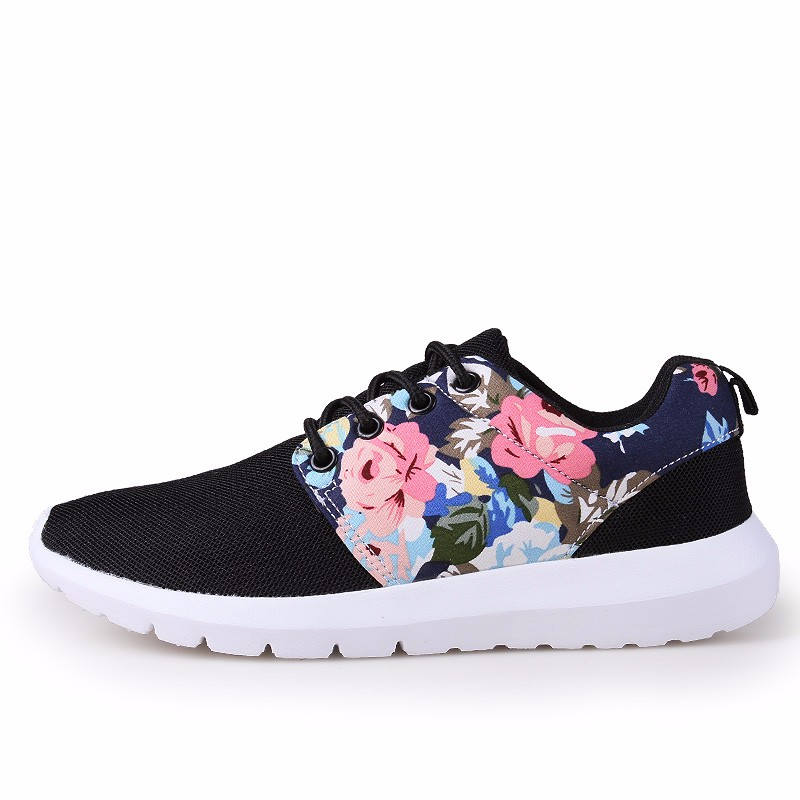 KUYUPP Fashion Breathable Print Flower Women Trainers Casual Shoes 2016 Summer Mesh Low Top Shoes Zapatillas Deportivas YD95 (44)