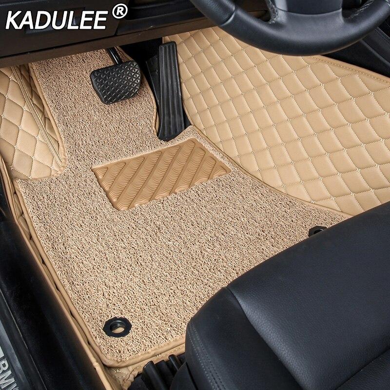 KADULEE Car Floor Foot Mat For Ssangyong Kyron Actyon Korando Rexton Accessories Waterproof Carpet Rugs Floor Liners