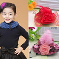 New Arrival Girls Hair Accessories Lovely Ribbon Cap Hairpins Festival Party Hat Barrette Dance Baby Shiny Hair Clip