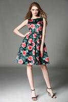 2015 אודרי הפבורן vestido גודל s-4xl פלוס נשים חלוק מסיבה מזדמן הקיץ עלה הדפסת רטרו pinup רוקבילי 50 s בציר שמלות
