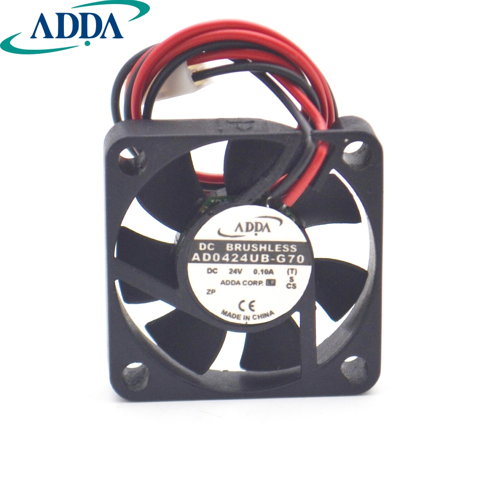 FOR ADDA Original AD0424UB-G70 DC 24V 0.1A 4010 404010mm 3 Wires 6800RPM Double Ball Bearing Cooling Fan