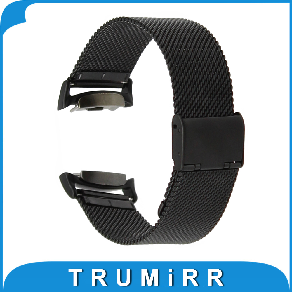 20mm Milanese Watchband with Adapters for Samsung Gear S2 SM-R720 / SM-R730 Stainless Steel Watch Band Wrist Strap Bracelet tearoke 16 colors silicone watchband for samsung galaxy gear s2 r720 r730 band strap sport watch replacement bracelet sm r720