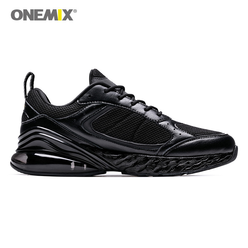 ONEMIX Men Running Shoes 2019 Waking Shoes Breathable Adult Male Shoes Trends Comfortable Ultra Light Outdoor Sports Shoes Black in Running Shoes from Sports Entertainment