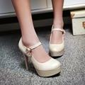 Мода дамы искусственная кожа женщин туфли на высоком каблуке туфли сексуальные туфли на каблуках женская ну вечеринку свадебные туфли размер 34 - 39