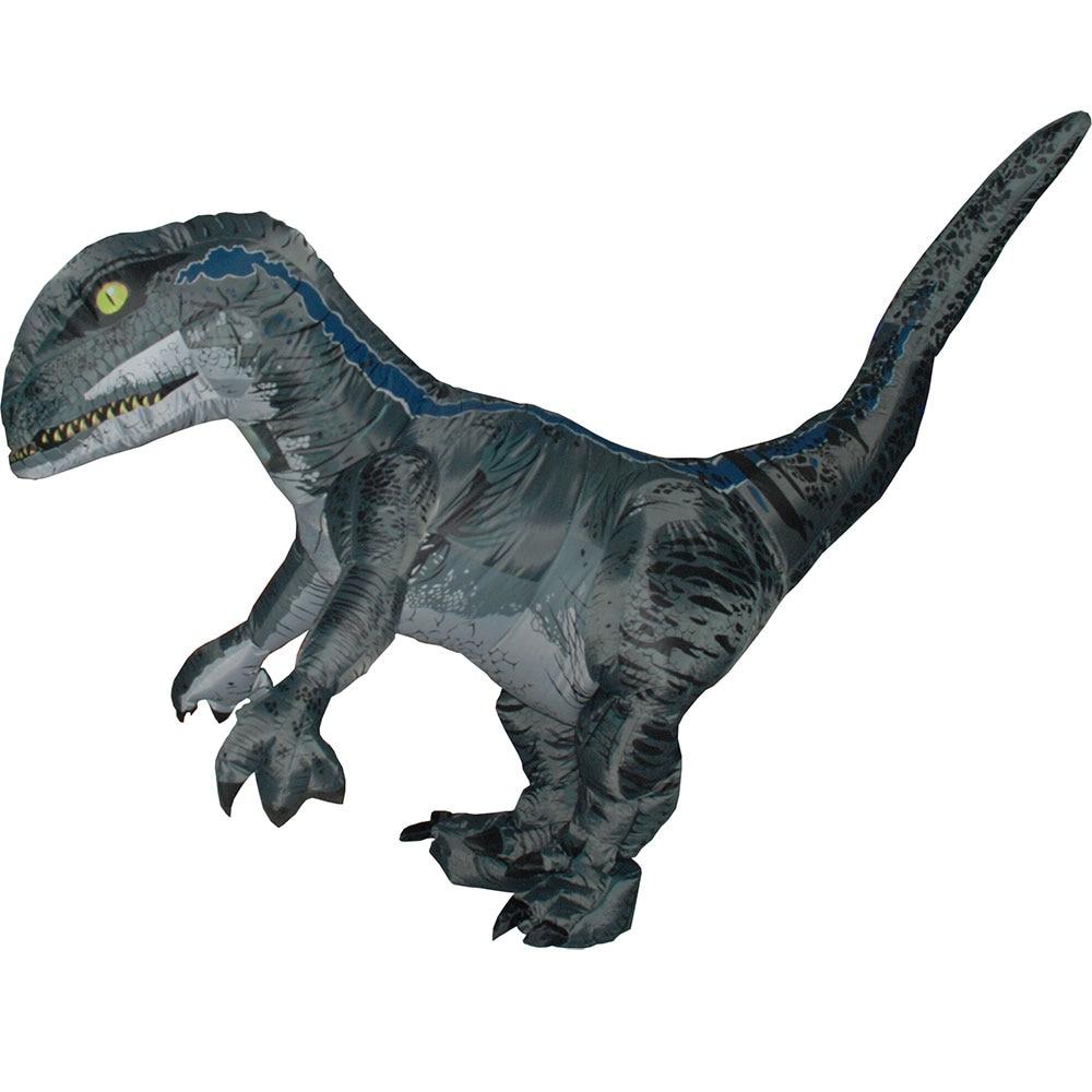 Jurassic World Adult Velociraptor Costume Fantasy Inflatable T REX Raptor Dinosaur Party Halloween Cospaly for Women Men