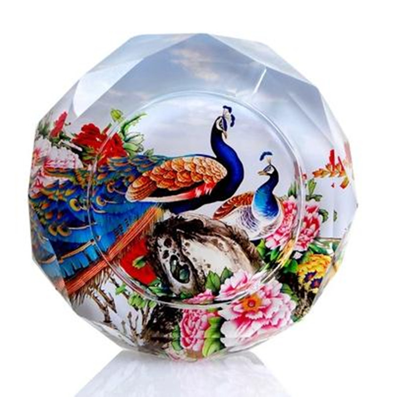 Peacock Pattern Crafts, Crystal Ashtray, Household Goods And Office Supplies,  15 Cm In Diameter In Ashtrays From Home U0026 Garden On Aliexpress.com |  Alibaba ...