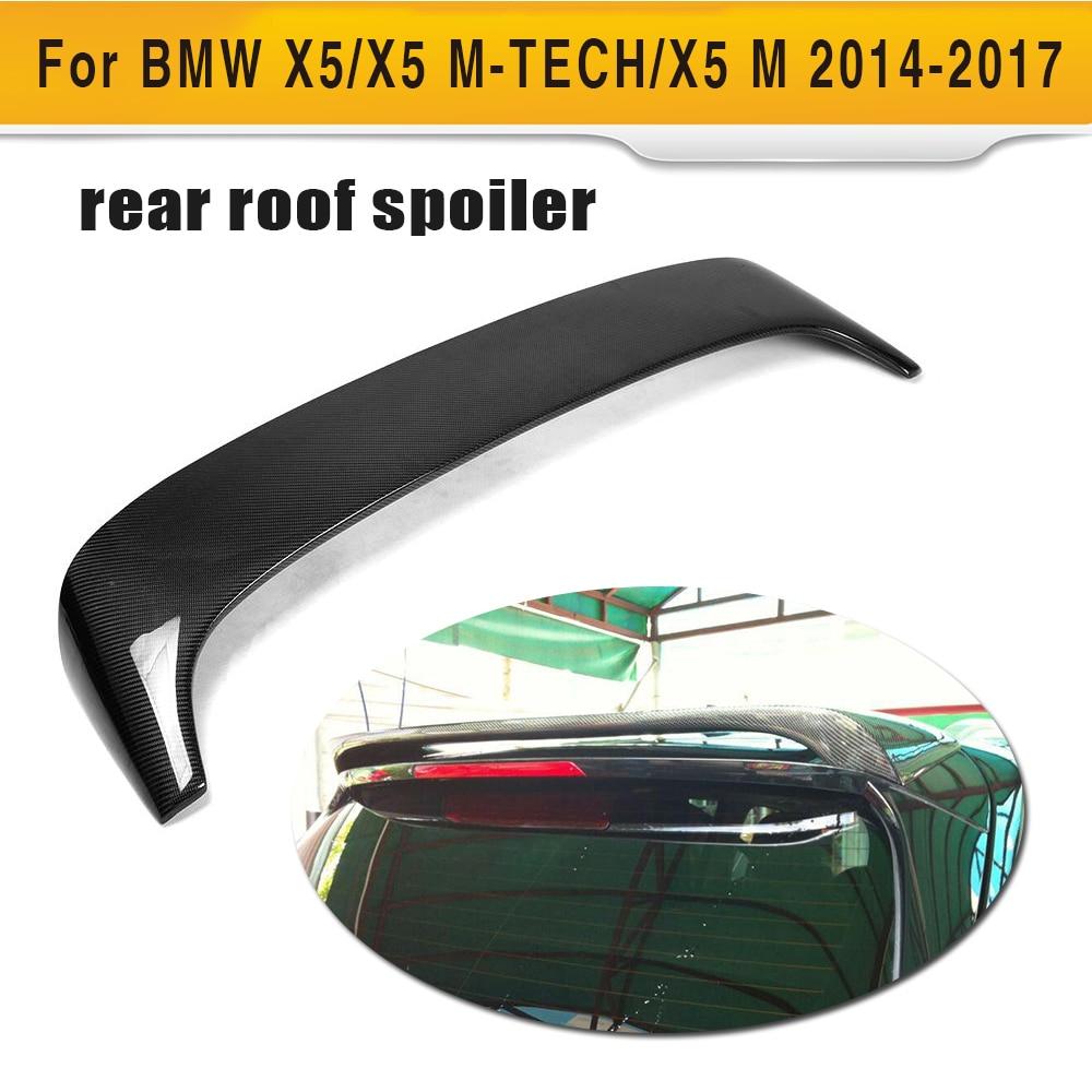 Углеродного волокна задний спойлер на крыше губы крыло для BMW F15 X5 внедорожник Sport Utility 4 двери 2014 2017 35i 35d 40e 50i HM Стиль