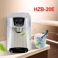 Commercial Ice Maker Small Automatic Ice Machine Large Capacity 15kg/24h Ice Machine Milk Tea Shop Home Use HZB 20E 220V/ 50Hz