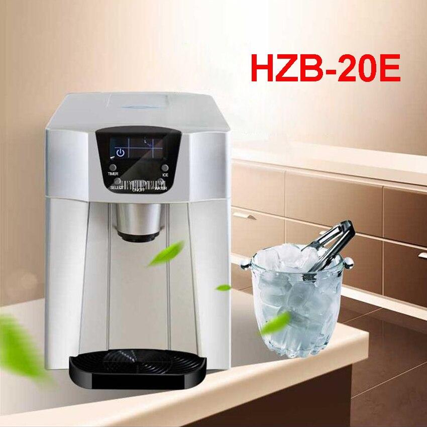 Máquina de Fazer Gelo Automática Pequena Máquina de Gelo comercial Grande Capacidade de 15 kg/24 h Loja de Chá de Leite Máquina de Gelo Em Casa uso HZB-20E 220 V/Hz 50