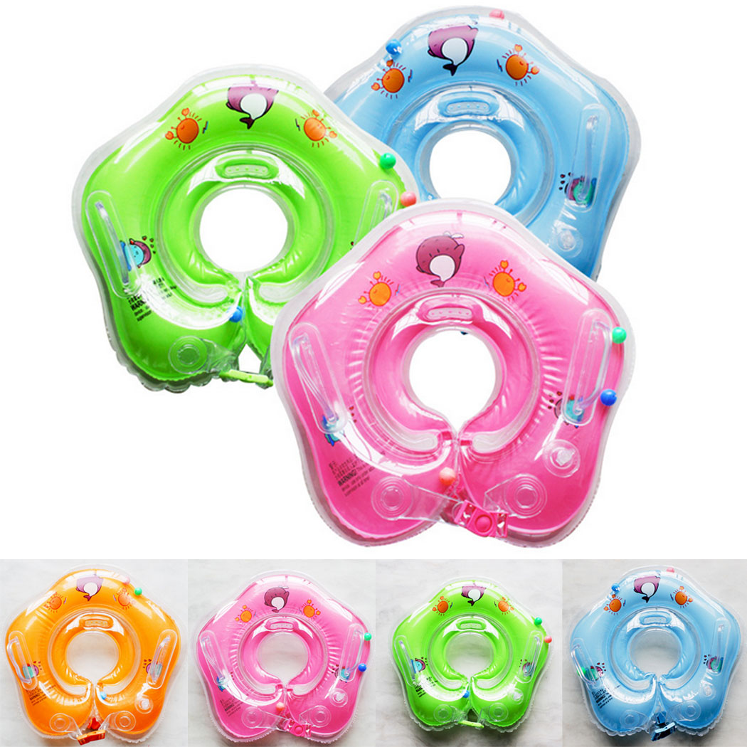 Baby Bath Pools Float Ring Neck Swimming Products Inflatable Kids ...