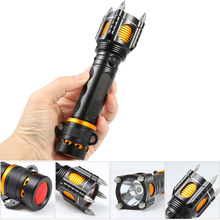 2000LM LED Security Tactical Police LED Flashlight Self Defe