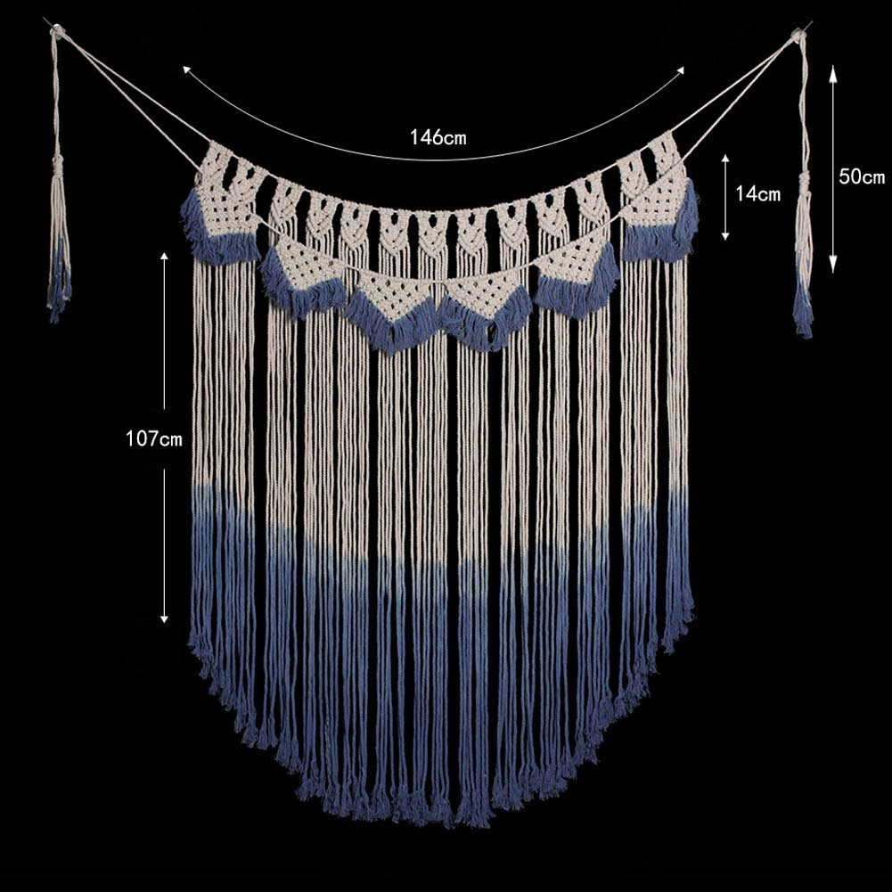 Wall Hanging Tassel Tapestry Handmade Curtain Boho Macrame Creative For Home Room Background DTT88