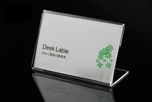 Hot sale 20pcs fashion L- shape clear acrylic desk label holder show sign tag price label frame price tag card dispaly stand 60 90mm price tag name card display acrylic magnetic picture photo frame declining desk sign frame ad block label display stand