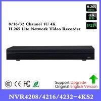 Оригинальный DH NVR4208 4KS2 NVR4216 4KS2 NVR4232 4KS2 NVR4208 NVR4216 NVR4232 NVR 8/16/32CH 1U сети видео Регистраторы