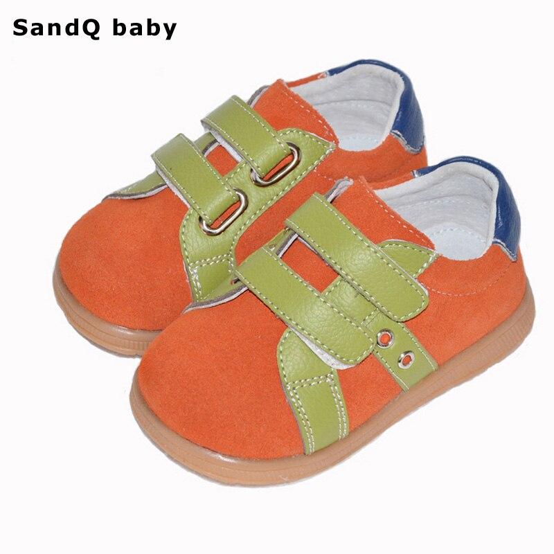 어린이 캐주얼 신발 2019 새로운 봄 정품 가죽 신발 소년 착용 - 내성 스웨이드 소년 신발 키즈 플랫 Chaussure