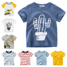 Летние детские футболки; хлопковая Детская футболка с короткими рукавами; футболки с принтом для мальчиков и девочек; топ с рисунком; одежда для малышей