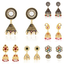 Women Vintage Chime Seed Flower Drop Earrings Multicolor Large Bohemia Dangle Statement Fashion Jewelry