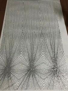 Image 4 - Único JIANXI.C 71106 pegado brillo neto tela de encaje tela con encaje de red francés con pegados brillo Decoración
