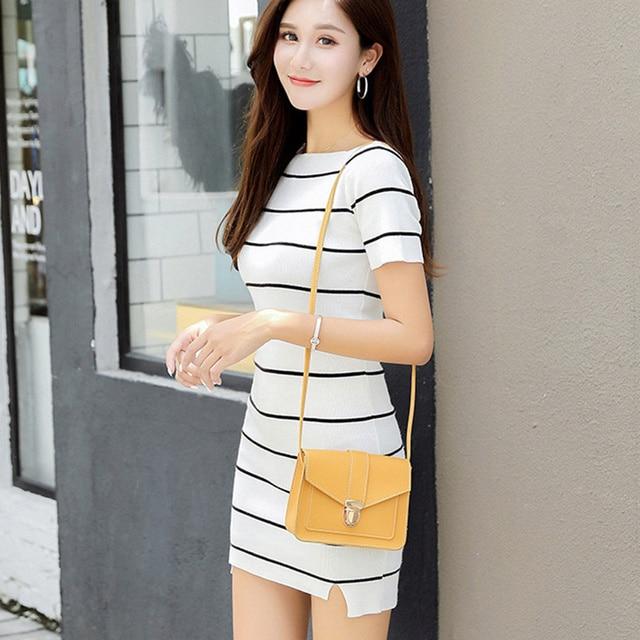 Fashion Small Crossbody Bags for Women 2019 Mini PU Leather Shoulder Messenger Bag for Girl Yellow Bolsas Ladies Phone Purse 5