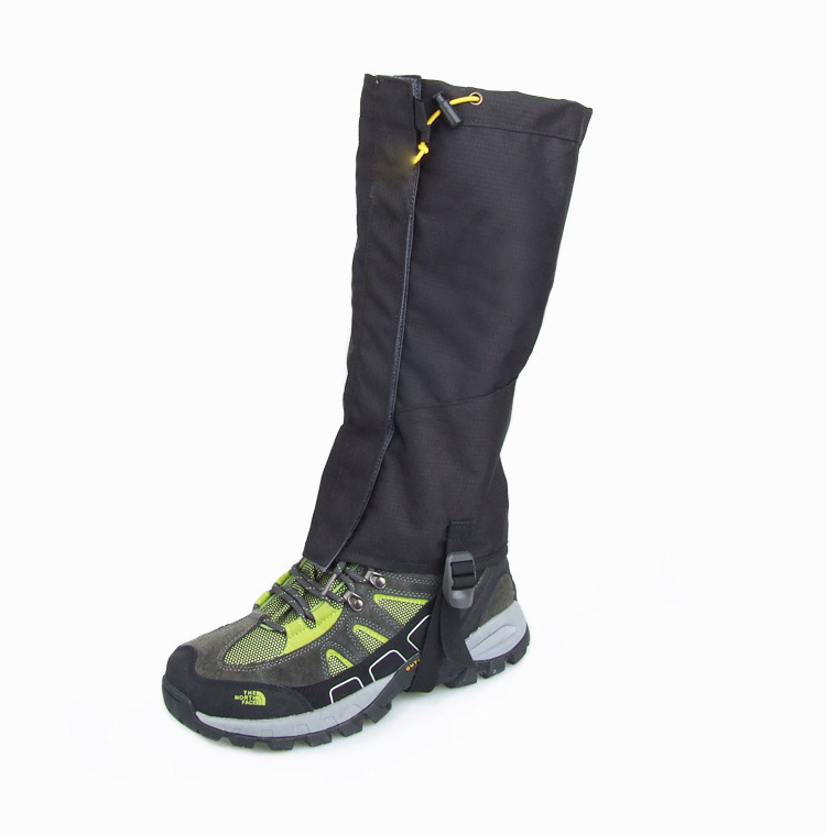 1 Pair Waterproof Outdoor Hiking Walking Climbing Hunting Snow Legging Gaiters Black