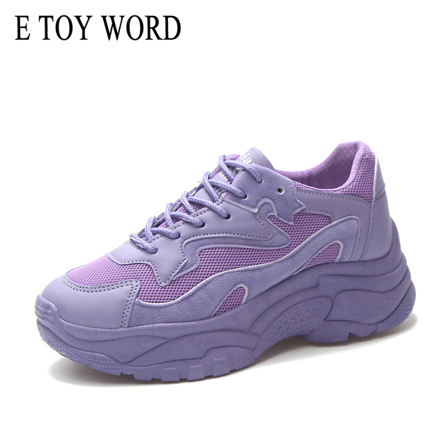 E TOY WORD womens chunky sneakers Harajuku 2018 Fashion Basket women platform shoes Street beat flat shoes zapatos mujer