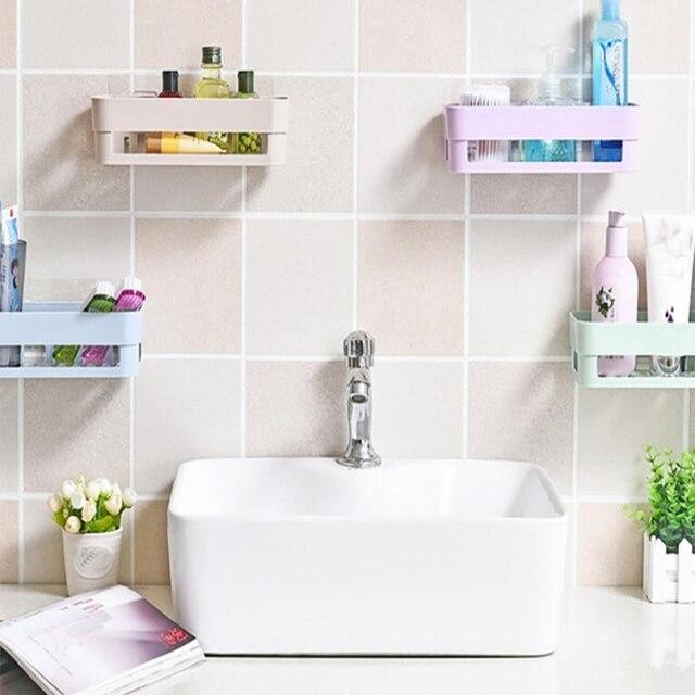 2018 nuevo baño de almacenamiento ventosa de plástico titular baño ...
