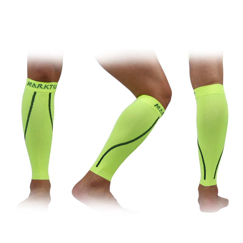 Marktop Legwarmers Support Compression Sleeve Support Sports Leg Warmer Cycling Running Football Sock Protector Fluorescent 5199 in Cycling Legwarmers from Sports Entertainment