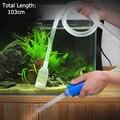 103 cm Aquário Ferramenta de Limpeza Manual Fr Tubo de Sucção do Filtro Do Tanque de Peixes de Cascalho Sifão Bomba de Vácuo De Água Mudança Ferramentas Exclusivas