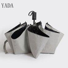 YADA Black & White Custom DIY Stripe Rain Women uv High Quality Umbrella Car For Womens Windproof Folding Charms Umbrellas YS057