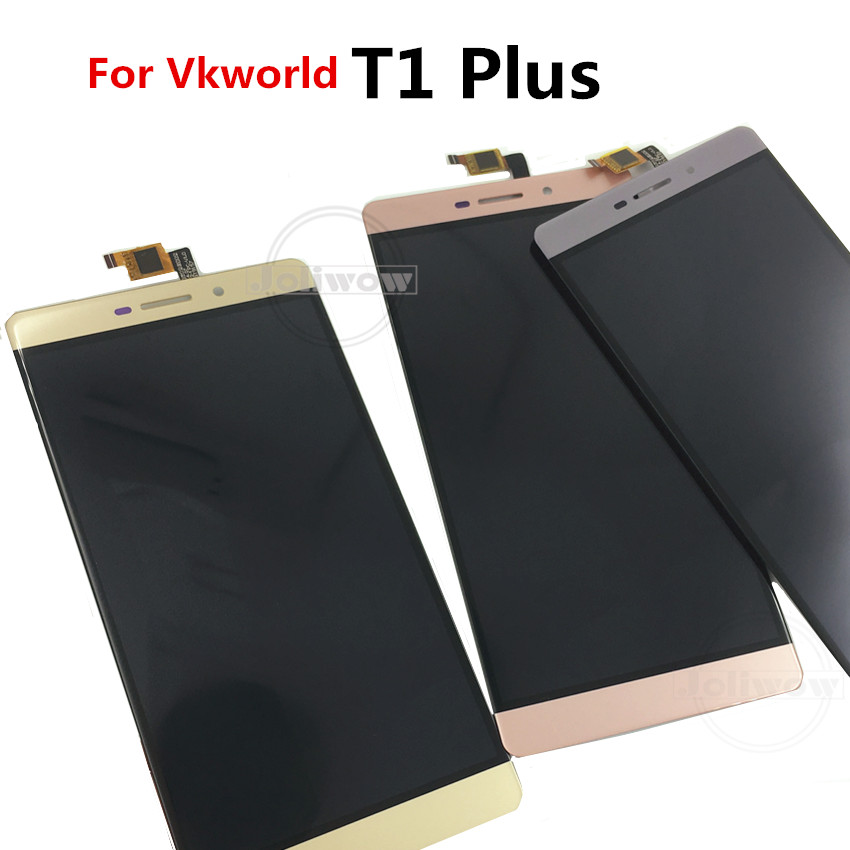 Good Quality For VKworld T1 Plus LCD Display Touch Screen Tools Digitizer Assembly Replacement Parts for VKworld T1PLUS lcd in Mobile Phone LCD Screens from Cellphones Telecommunications