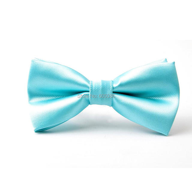 93a89f396ff6 HOOYI solid color Turquoise blue bow tie butterfly for men pretied neck ties  2019