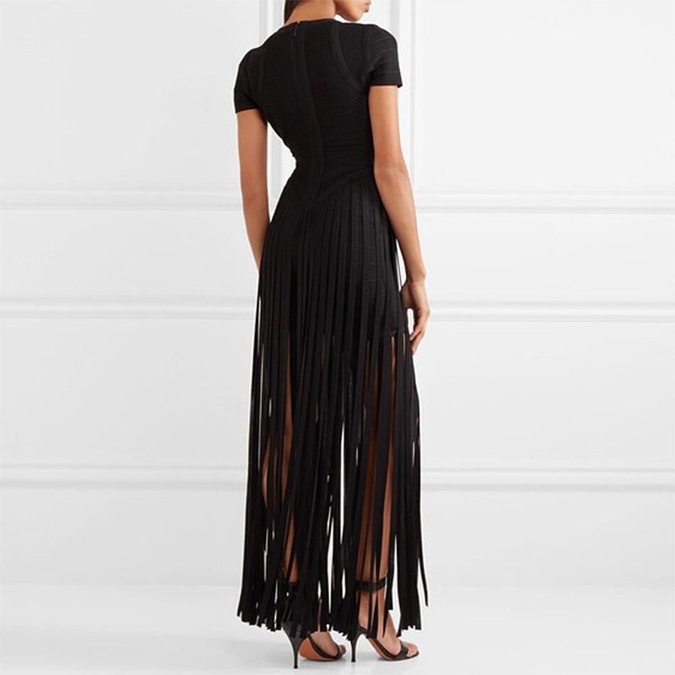 2018 Newest Summer Bandage Dress Women Celebrity Short Sleeve V-Neck Elegant Sexy Night Out Party Maxi Dress Women Long Vestidos