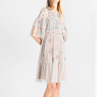 New 2019 pattern with hand made beads embroidery sequins gauze wavy lines fairy dress dress