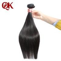 QueenKing Haar Peruanische Remy haareinschlagfaden Seidige Gerade Natur Farbe 100% Menschenhaar Bundles Weave auf 100 gramm pro stück