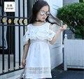 Festa de aniversário da menina do bebê verão vestido de princesa vestidos das meninas do bebê roupas infantis roupas de bebê vestidos de renda branca HB1176